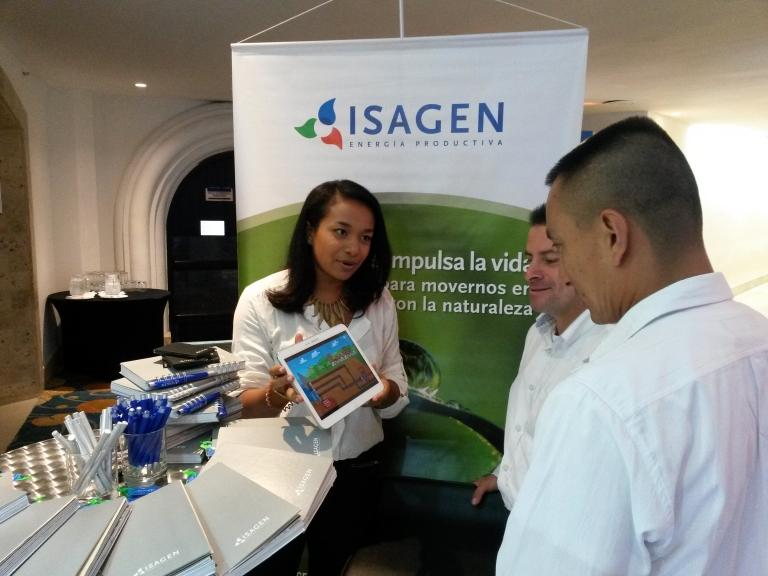 Personal de logistica para activaciones de marca en eventos de Isagen